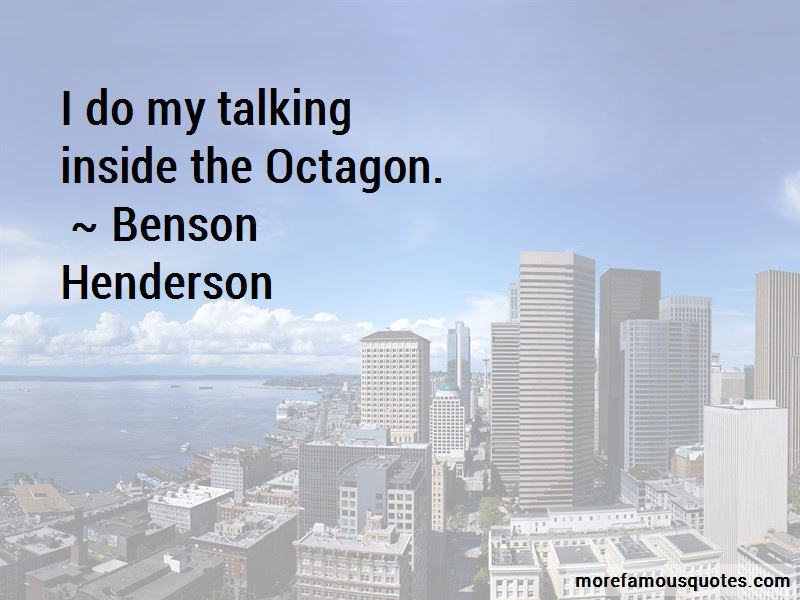Benson Henderson Quotes Pictures 3