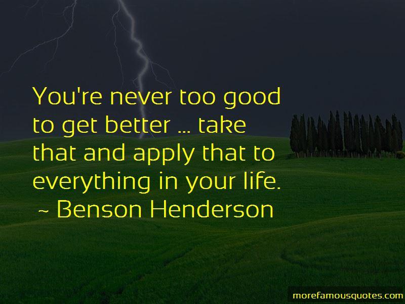 Benson Henderson Quotes