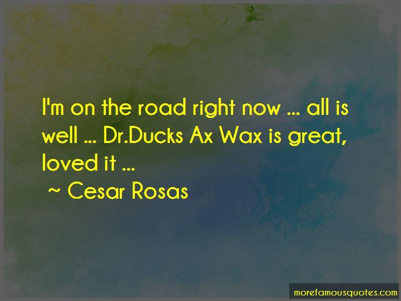 Cesar Rosas Quotes