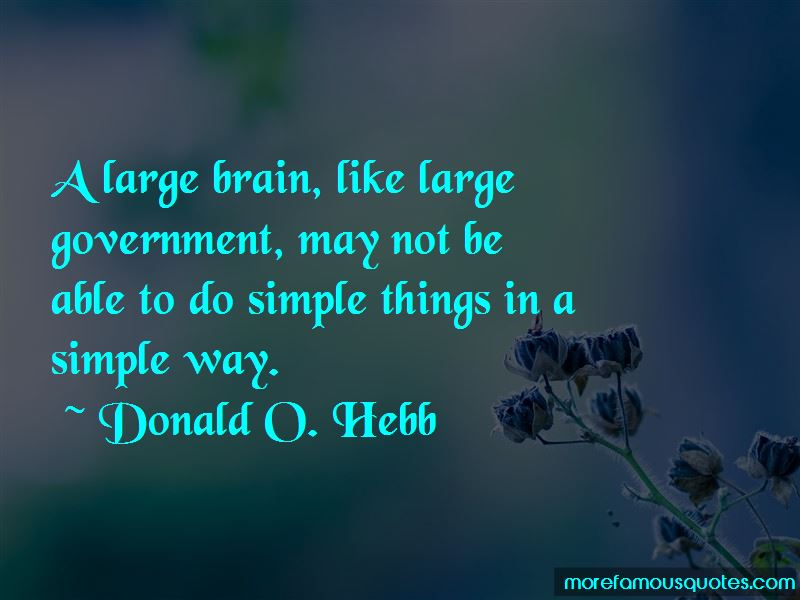 Donald O. Hebb Quotes