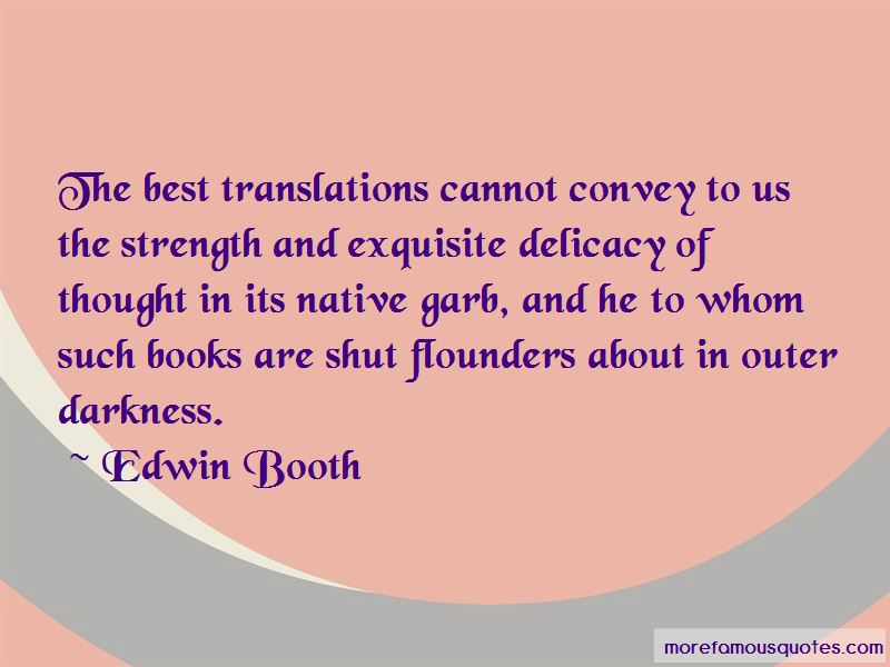 Edwin Booth Quotes