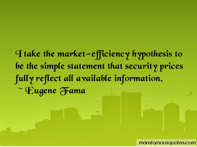 Eugene Fama Quotes Pictures 4