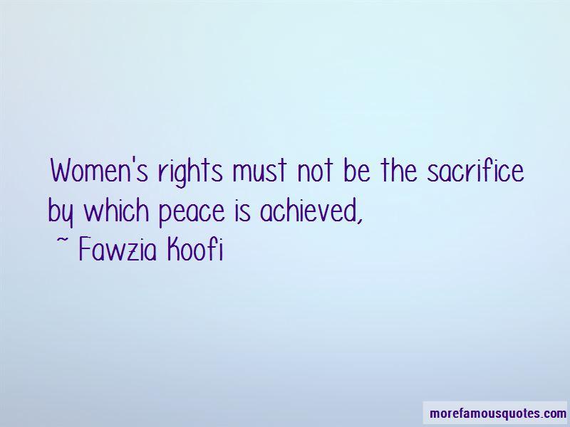Fawzia Koofi Quotes Pictures 2