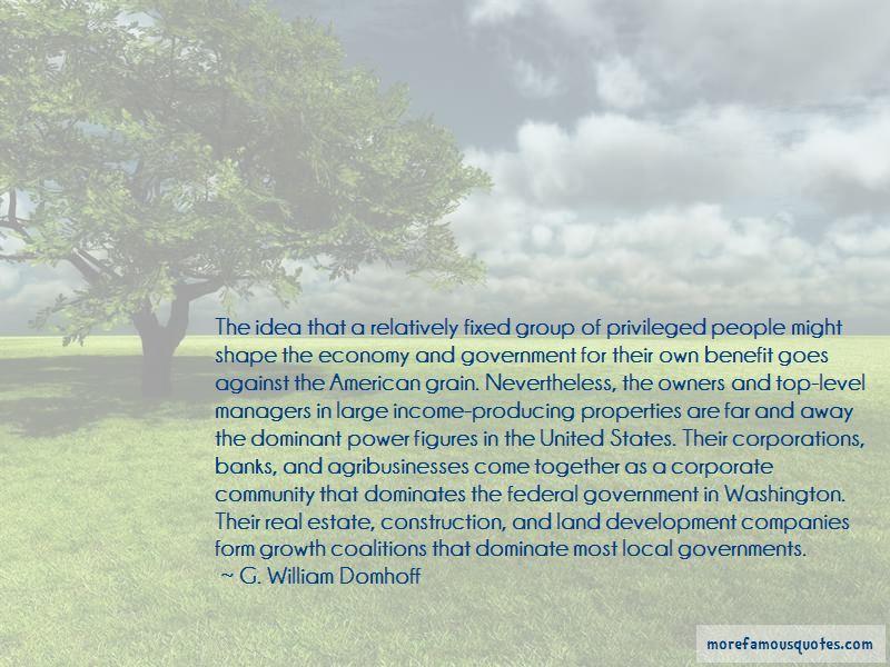 G. William Domhoff Quotes