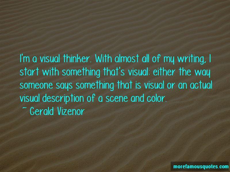 Gerald Vizenor Quotes