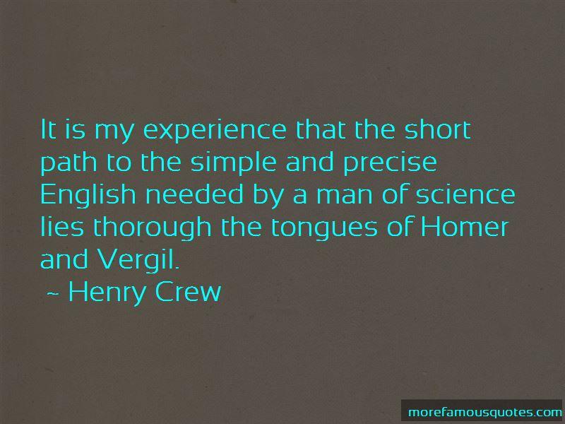 Henry Crew Quotes