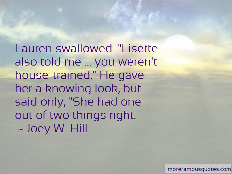 Joey W. Hill Quotes
