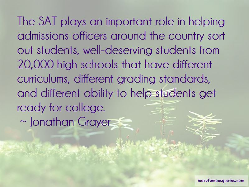 Jonathan Grayer Quotes