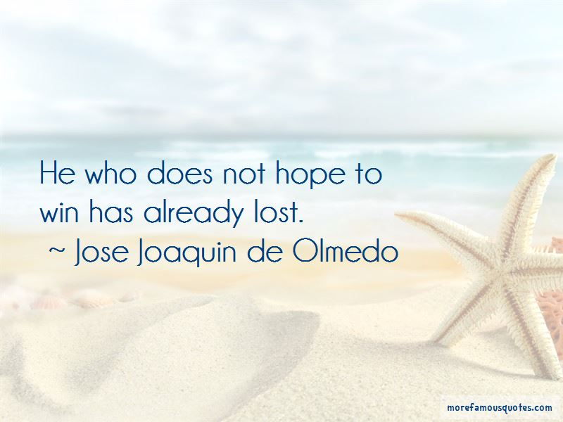 Jose Joaquin De Olmedo Quotes