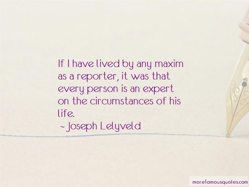 Joseph Lelyveld Quotes