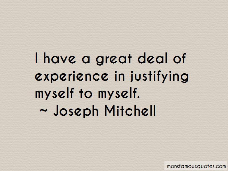 Joseph Mitchell Quotes Pictures 2