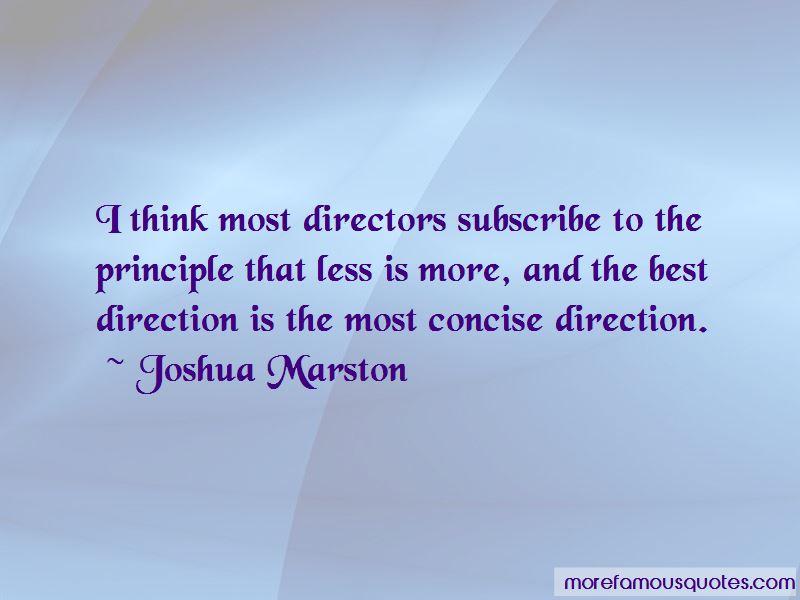 Joshua Marston Quotes