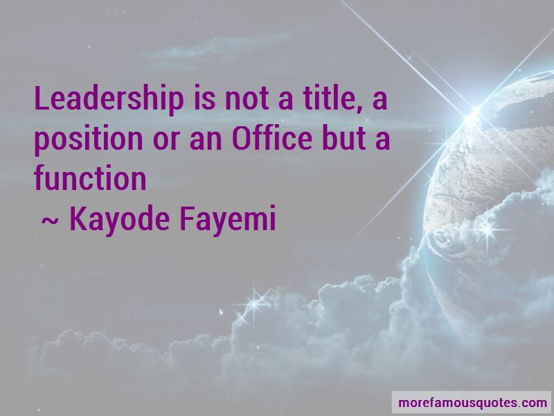 Kayode Fayemi Quotes Pictures 2