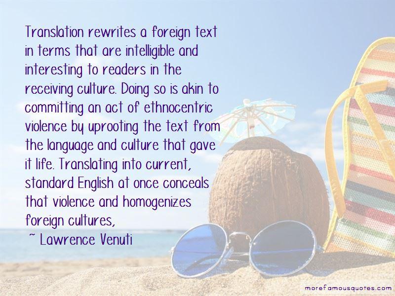 Lawrence Venuti Quotes Pictures 2