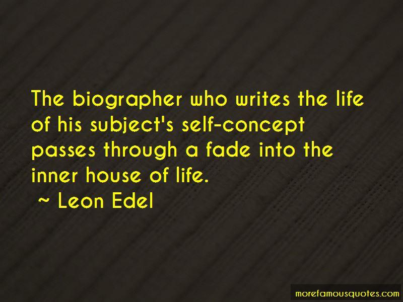 Leon Edel Quotes