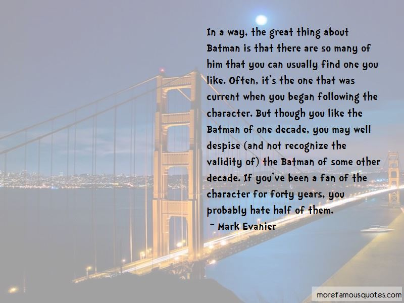Mark Evanier Quotes