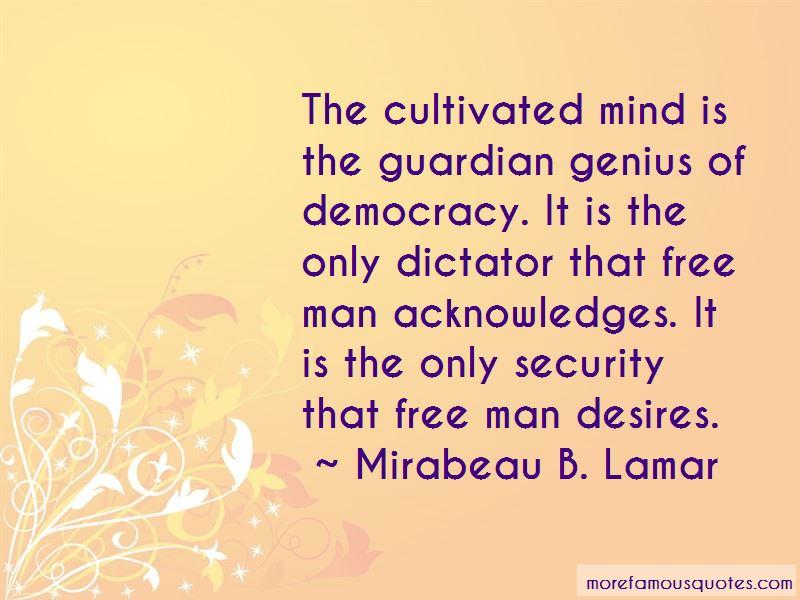 Mirabeau B. Lamar Quotes