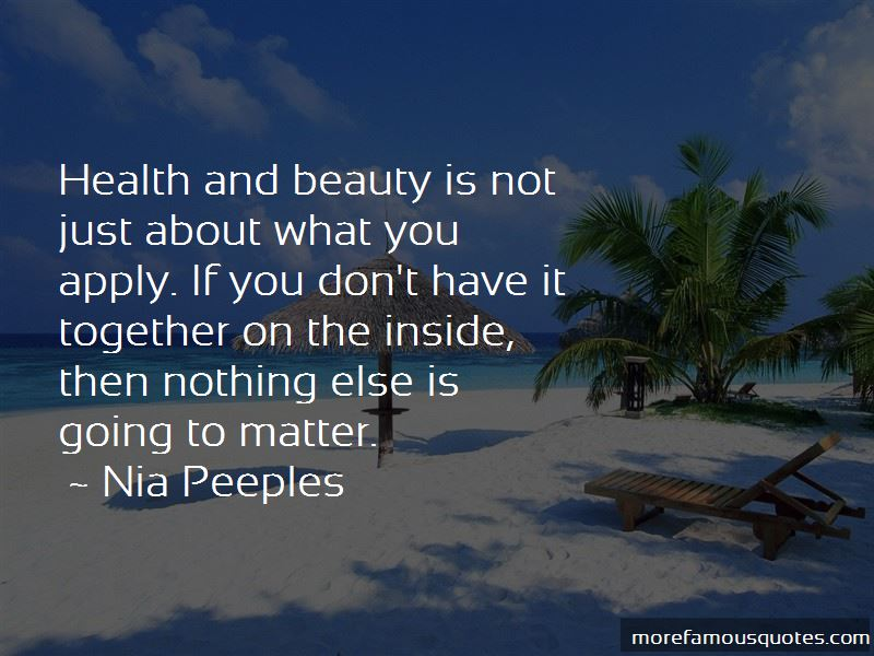 Nia Peeples Quotes Pictures 4