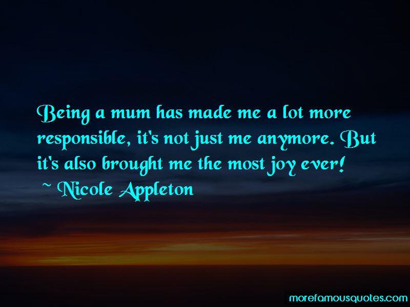 Nicole Appleton Quotes