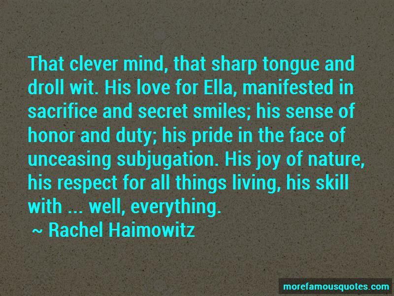 Rachel Haimowitz Quotes