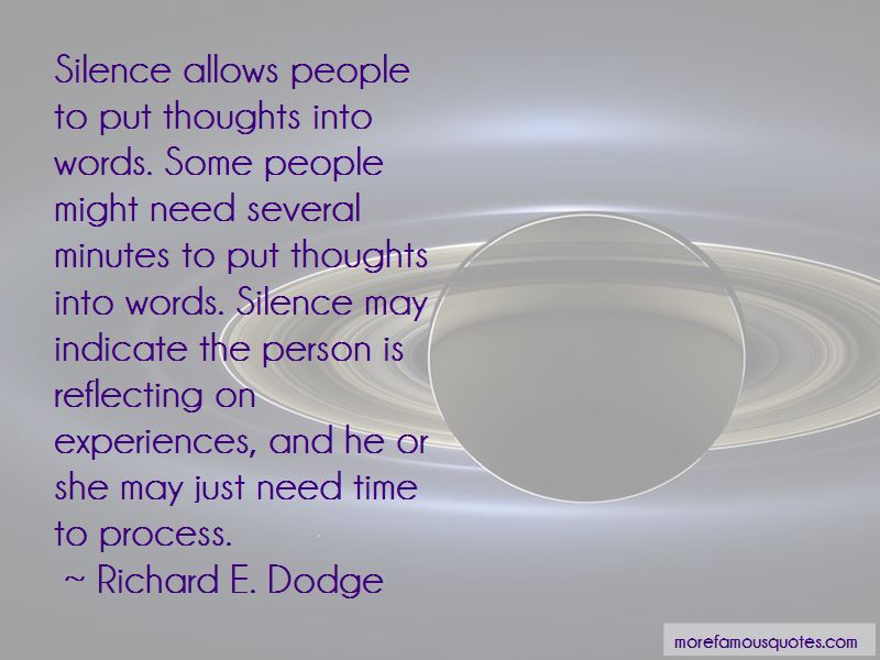 Richard E. Dodge Quotes