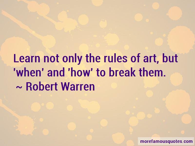 Robert Warren Quotes