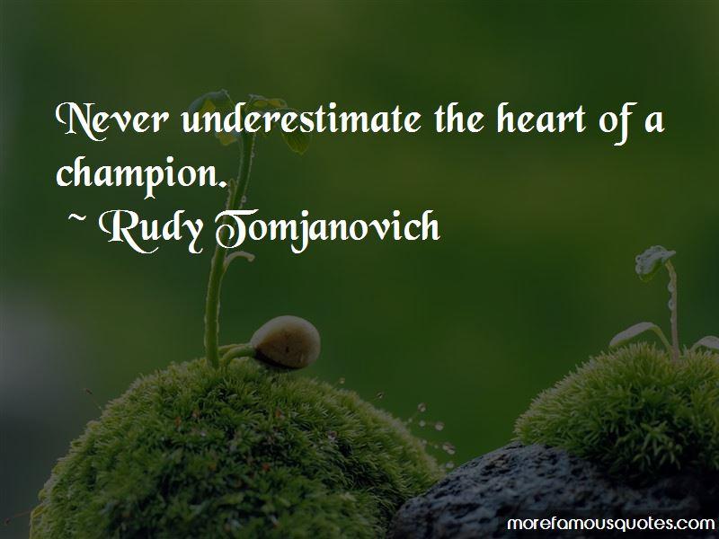 Rudy Tomjanovich Quotes