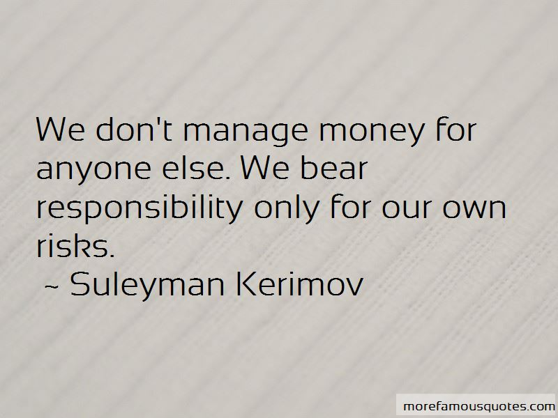 Suleyman Kerimov Quotes
