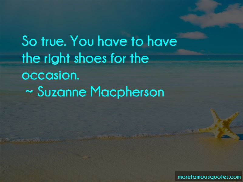 Suzanne Macpherson Quotes