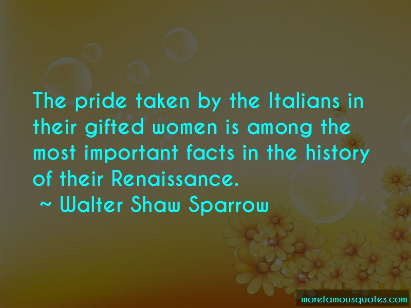 Walter Shaw Sparrow Quotes