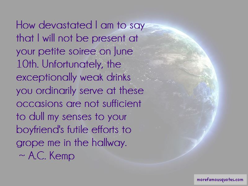 A.C. Kemp Quotes
