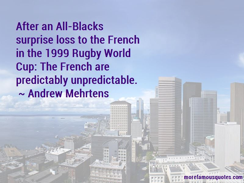 Andrew Mehrtens Quotes
