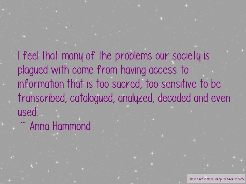 Anna Hammond Quotes