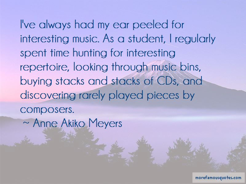 Anne Akiko Meyers Quotes