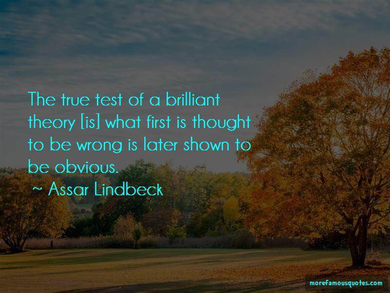 Assar Lindbeck Quotes