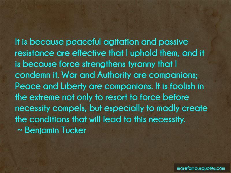Benjamin Tucker Quotes