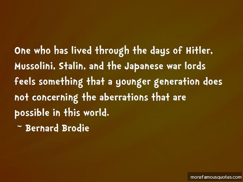 Bernard Brodie Quotes