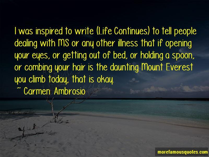 Carmen Ambrosio Quotes