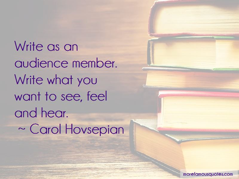 Carol Hovsepian Quotes
