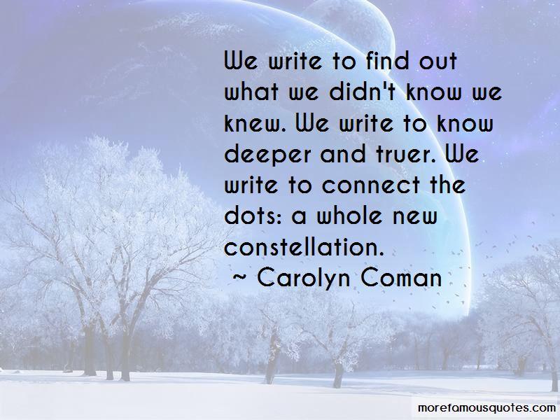 Carolyn Coman Quotes