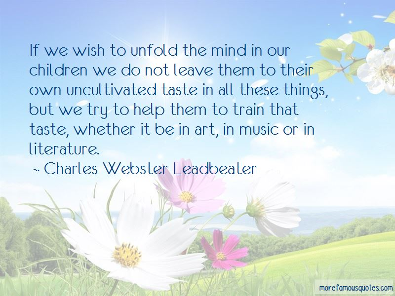 Charles Webster Leadbeater Quotes Pictures 3
