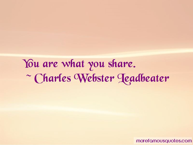 Charles Webster Leadbeater Quotes