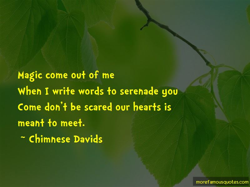 Chimnese Davids Quotes