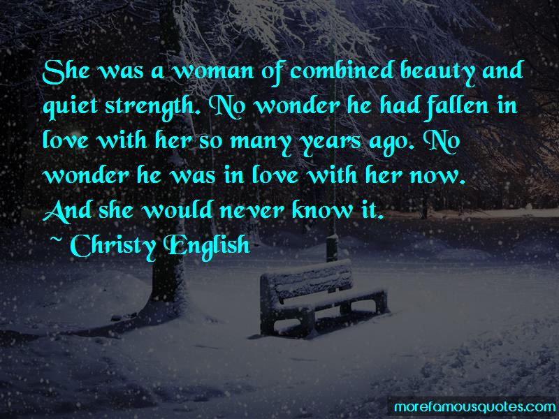 Christy English Quotes