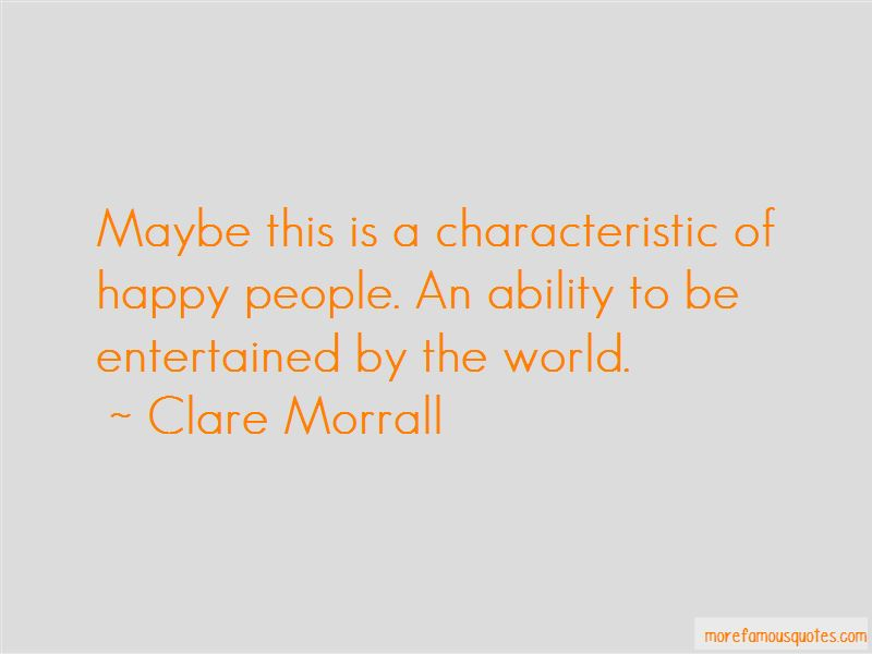 Clare Morrall Quotes