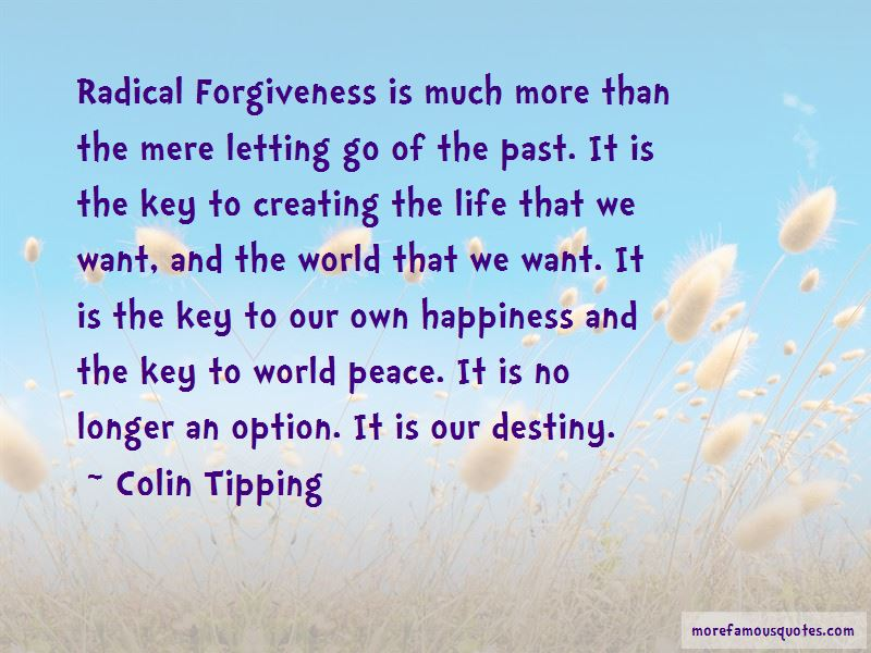 Colin Tipping Quotes