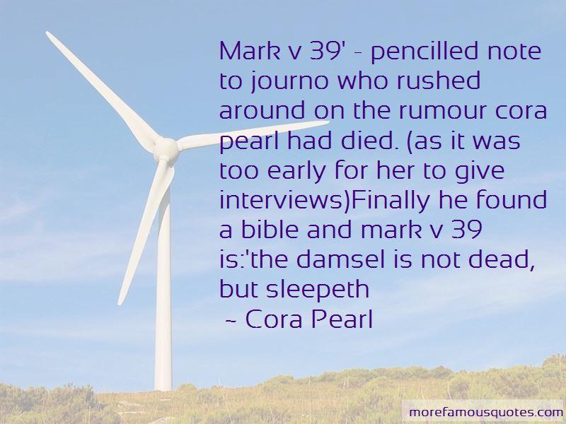 Cora Pearl Quotes