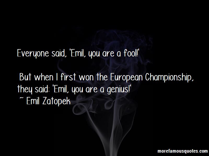 Emil Zatopek Quotes Pictures 3