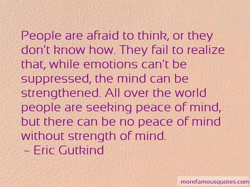 Eric Gutkind Quotes