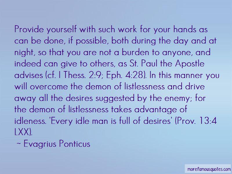 Evagrius Ponticus Quotes